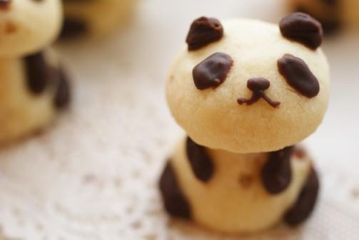 bアップパンダクッキー