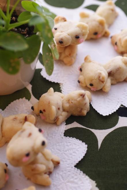 b縦白熊クッキー