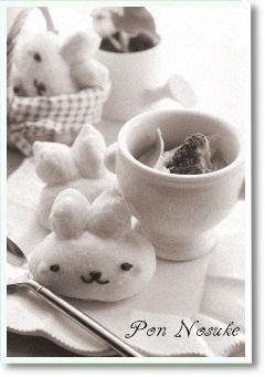 b白黒ウサギパン