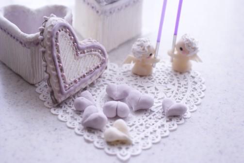 b横3紫ハートの宝石箱