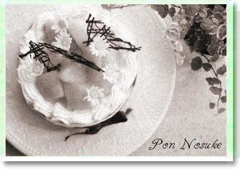 b白黒マンゴーケーキ