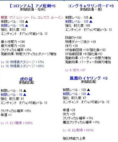 武器盾アクセ(経過)