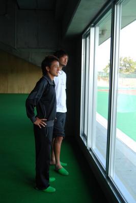 室内練習場(金澤&首藤)