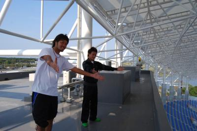 屋上(金澤&首藤)