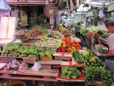 香港市場野菜