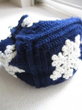編み物バック裏