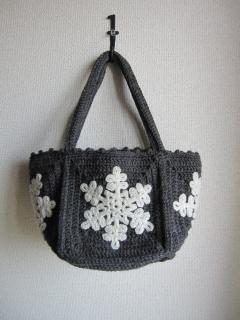 編みバックグレイ