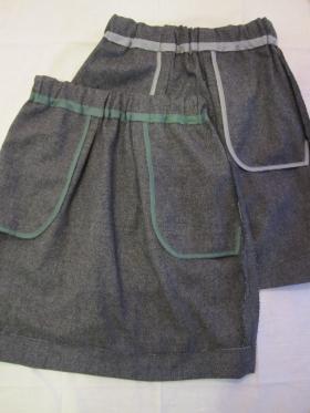 ツイードスカート裏