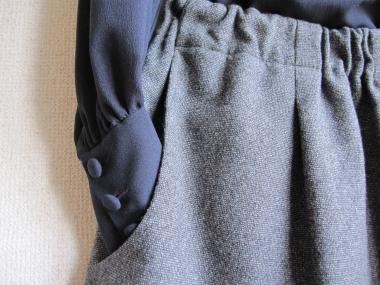 ツイードスカートポケット