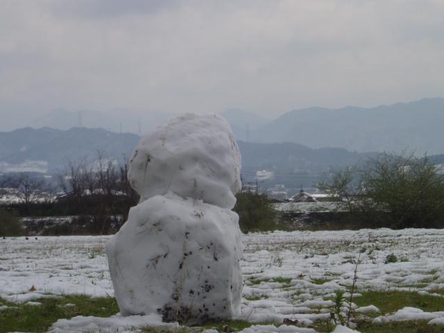 春の雪だるま