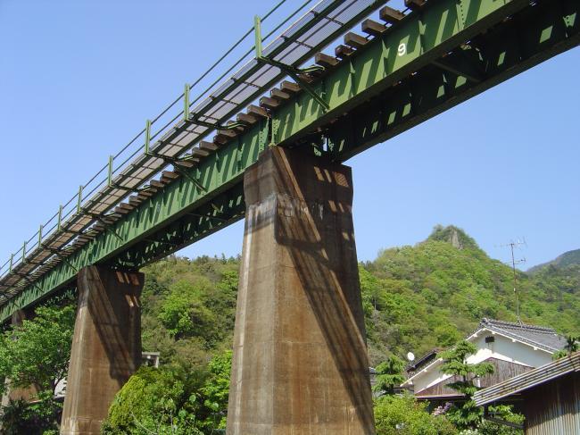 予讃線鉄橋縮小