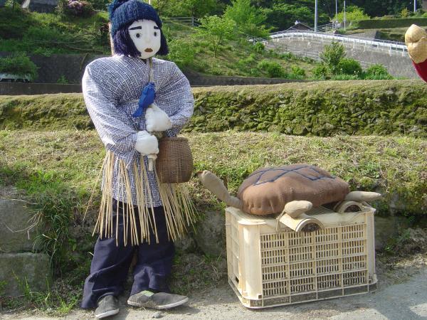 浦島太郎と亀縮小