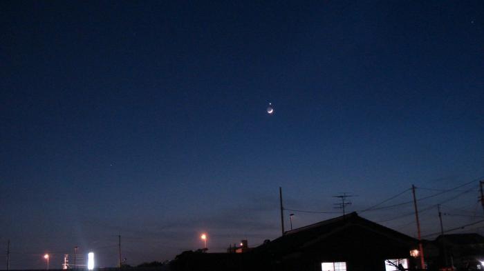 月と金星縮小