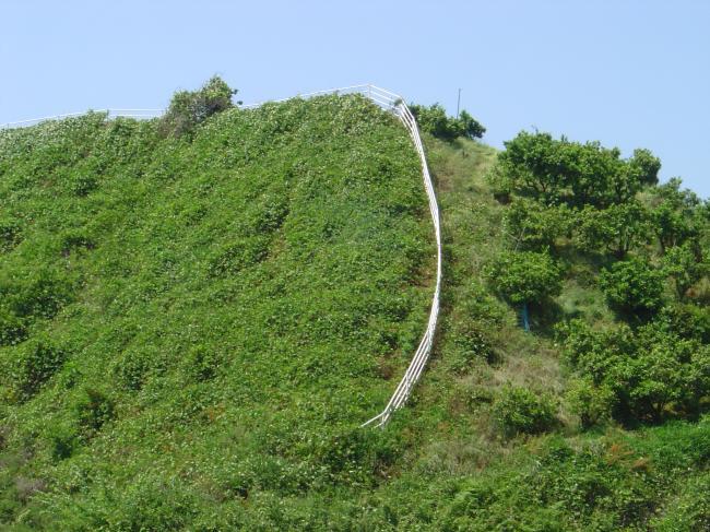 山の境界縮小
