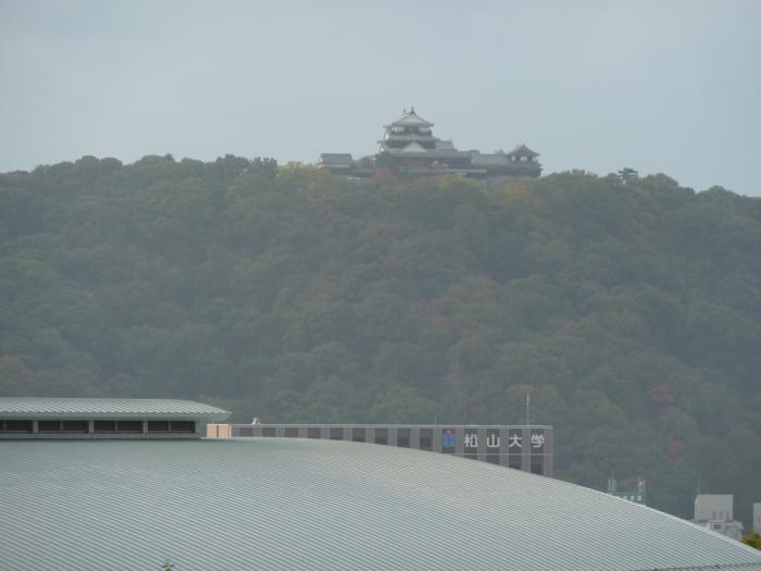 松山大学と松山城縮小