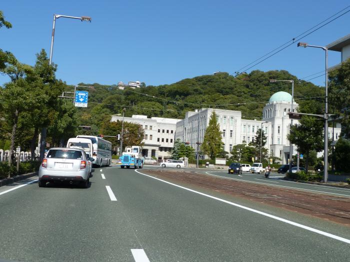 松山城と県庁縮小