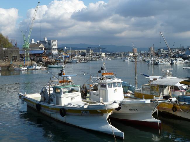 三津浜港縮小