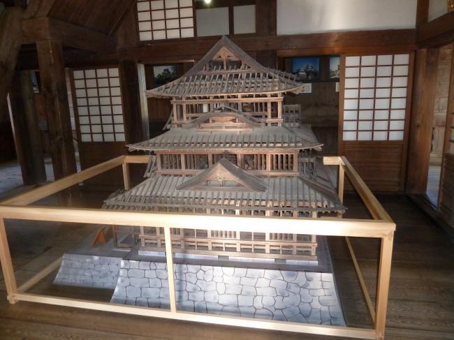 宇和島城模型縮小