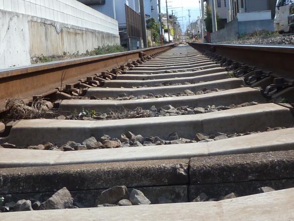 久米駅線路縮小1