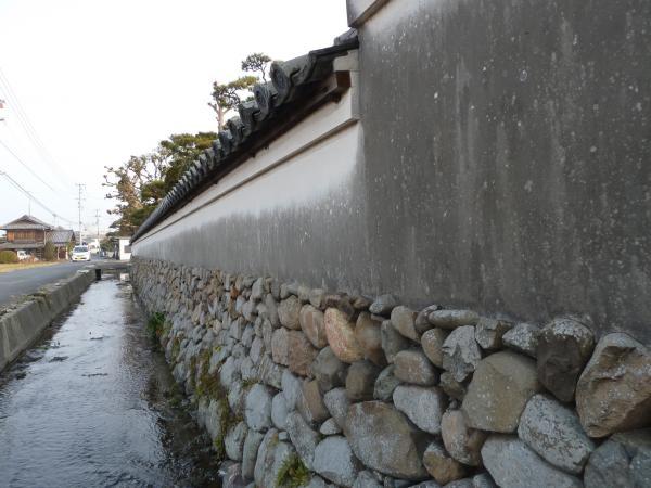豊島家土塀4縮小