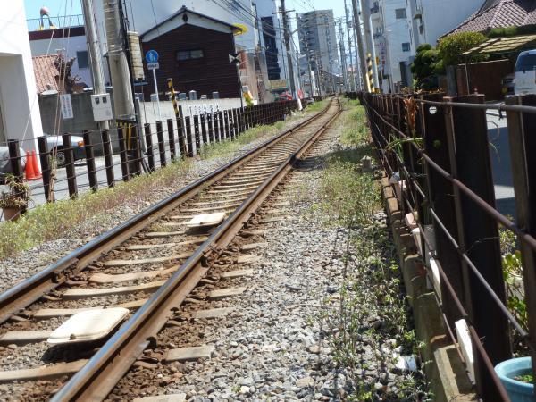 石手川公園駅方面