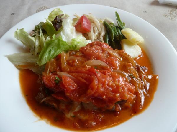 ポークチーズトマトソテー5