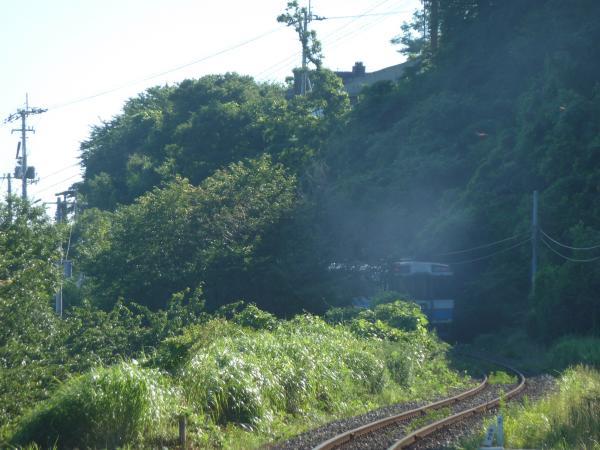 遠ざかる列車6