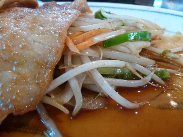 生姜焼と野菜7