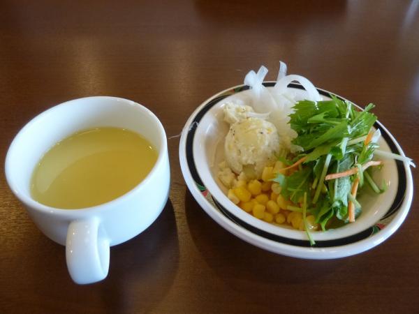 サラダとコーンスープ4