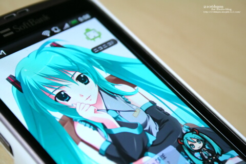HTC Desire(X06HT/X06HTII)専用ケース_初音ミクVersion_HOME画面