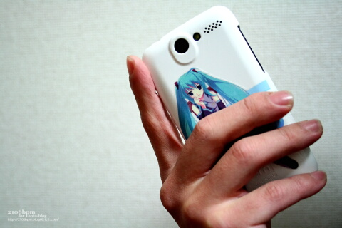 HTC Desire(X06HT/X06HTII)専用ケース_初音ミクVersion_hold