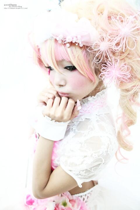 キャラ/作品:オリジナルピンク盛り コスプレイヤー:姫宮まほれ@となりでコスプレ博2011夏 1日目