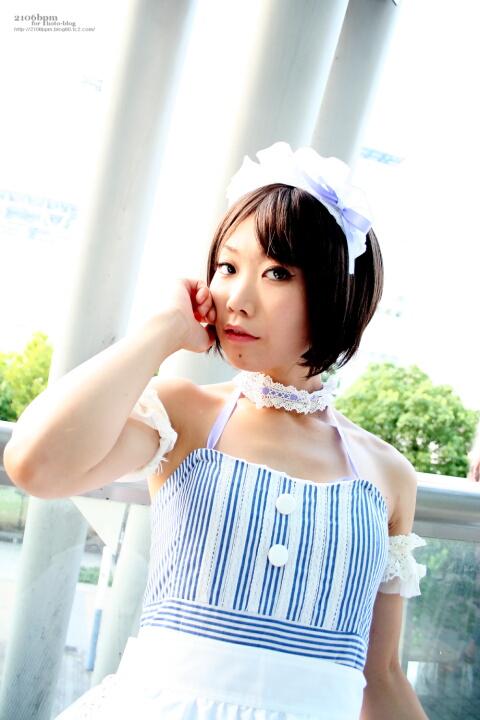 キャラ/作品:オリジナルメイド コスプレイヤー:みゅう@となりでコスプレ博2011夏 1日目