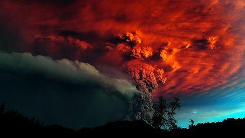 噴火してます。