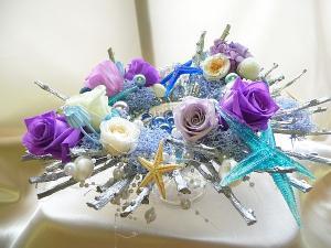 プリザーブドフラワーのディスプレイ花