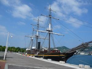 長崎港の観光丸