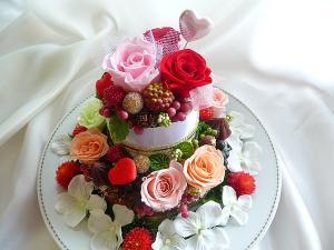 お花のウエディングケーキ