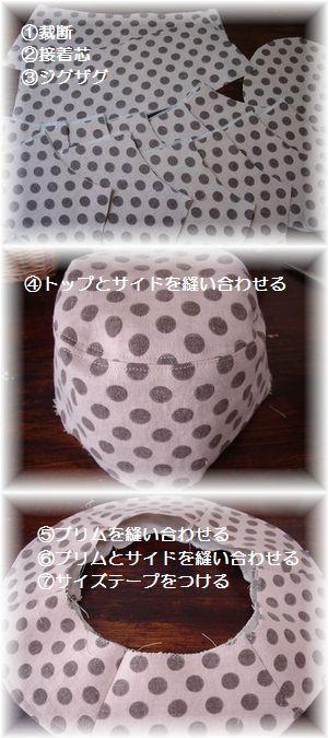 帽子の作り方