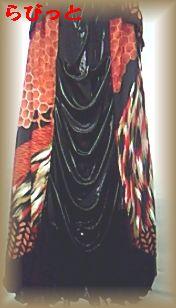 和柄ドレス スカート