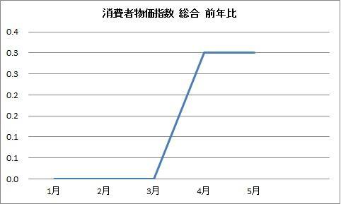 消費者物価指数 総合 2011.5