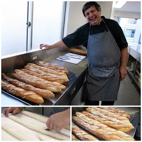 フランスパン焼き上がり