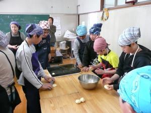 石窯でパン