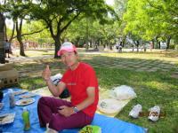 膳所城跡公園でBBQ