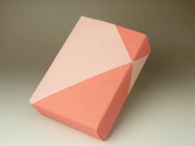 紙使いのアレンジ(斜め包み2)