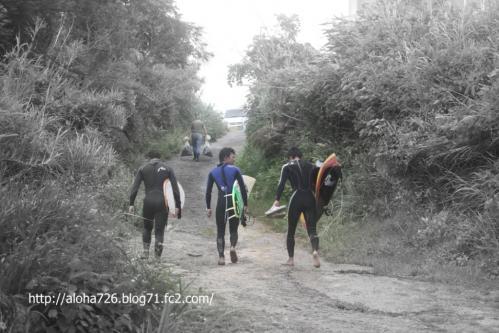 3人衆と登り坂