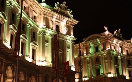 夜の共和国広場