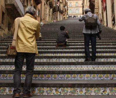階段での過ごし方
