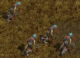 エルフ戦士の大群