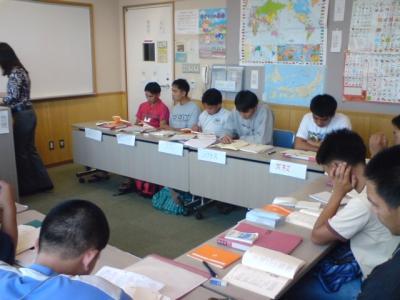日本語の授業中