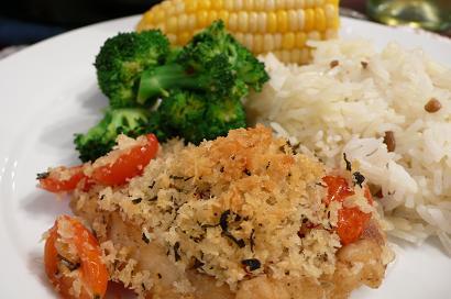 白身魚のオーブン焼き
